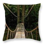 Bridge To The Forest Throw Pillow
