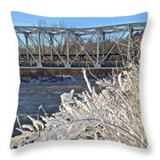 Bridge To Winter Throw Pillow