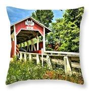 Bridge To Yesterday Throw Pillow