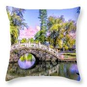 Bridges At Liliuokalani Park Hilo Throw Pillow