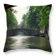 Bridges In Amsterdam Throw Pillow