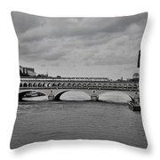 Bridges In Paris Throw Pillow