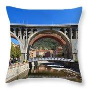 bridges in Sori Throw Pillow