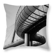 Bridges In The Sky Throw Pillow