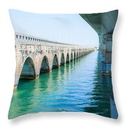 Bridges New And Old Throw Pillow