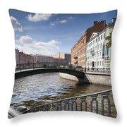Bridges Of St. Petersburg Throw Pillow