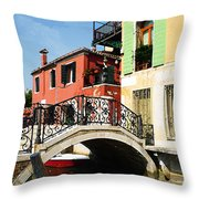 Bridges Of Venice Throw Pillow