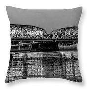 Trenton Makes Bridge Throw Pillow by Louis Dallara