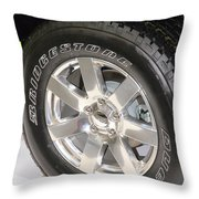 Bridgestone Tire Throw Pillow