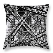 Bridging Books Throw Pillow