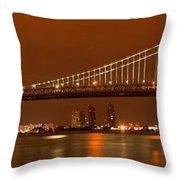 Bridging New Jersey And Pennsylvania Throw Pillow