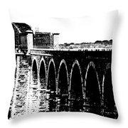 Bridging The Boyne Throw Pillow