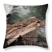 Bridging The Chasm 01 Throw Pillow