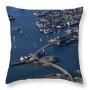Bridging The Ocean Throw Pillow