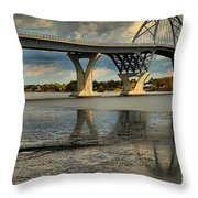 Bridging Vermont And New York Throw Pillow