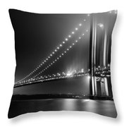 Bridging Verrazano Narrows Throw Pillow