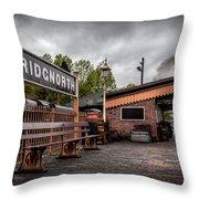 Bridgnorth Railway Station Throw Pillow