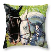 Bridled Love Throw Pillow