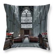 Bridlington Abbey Throw Pillow