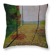 Brief Look Of Sea In The King's Forest. Throw Pillow
