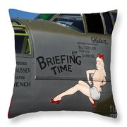 Briefing Helen Throw Pillow