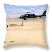 Brigade Aviation Officer Salutes Throw Pillow