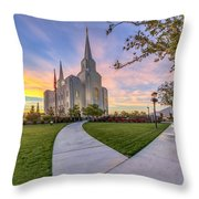 Brigham City Sunset Throw Pillow