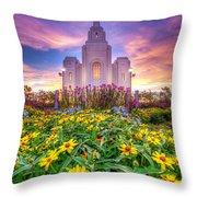 Brigham City Temple Throw Pillow