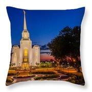 Brigham City Temple Twilight 1 Throw Pillow