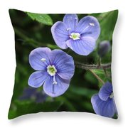 Bright And Blue Throw Pillow
