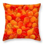 Bright And Orange Throw Pillow