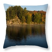 Bright And Sunny Autumn Reflections Throw Pillow