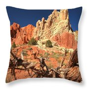Bright And Twisted Throw Pillow
