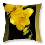 Bright And Yellow Throw Pillow