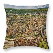 Bright Angel And El Tovar Hotel South Rim Throw Pillow