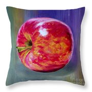 Bright Apple Throw Pillow