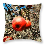 Bright Apples Throw Pillow