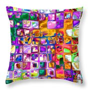 Bright Boxes I Throw Pillow