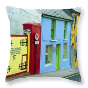 Bright Buildings In Ireland Throw Pillow