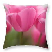 Bright Bunch Of Tulips Throw Pillow by Mike Reid