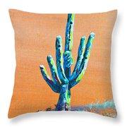 Bright Cactus Throw Pillow