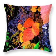 Bright Colorful Leaves Vertical Throw Pillow