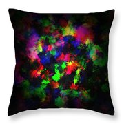 Bright Colors Of Paint Throw Pillow