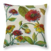 Bright Contemporary Floral  Throw Pillow