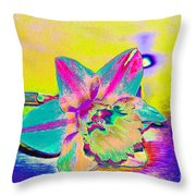 Bright Daff Throw Pillow