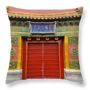Bright Doorway Throw Pillow