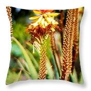 Bright Flower 1 Throw Pillow
