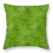 Bright Green Fractal Throw Pillow