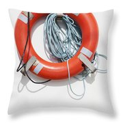 Bright Life Saving Ring Throw Pillow