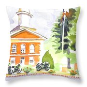 Bright Morning At The Courthouse Throw Pillow